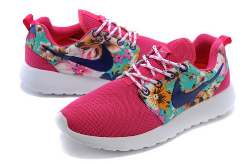 Nike Roshe Run Womens Floral Light Blue Pink Greece